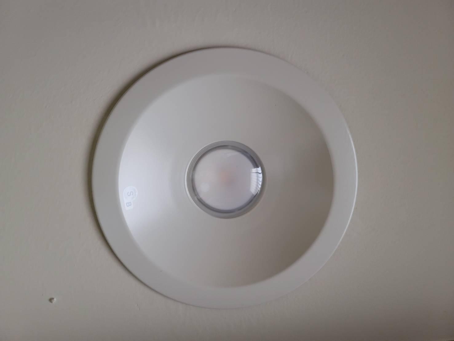 LEDダウンライト施工後
